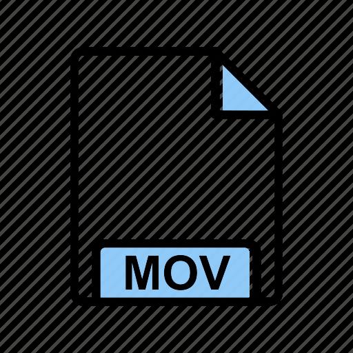 extension, fie type, mov icon