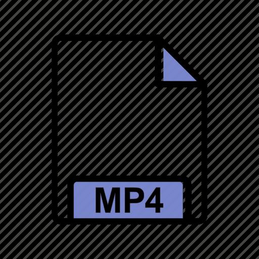 extension, file, mp4 icon