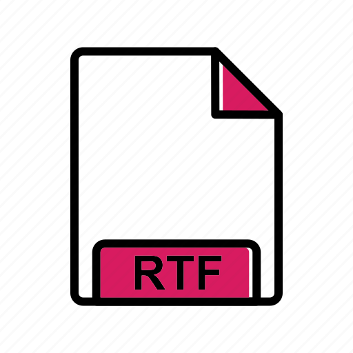 extension, file, rtf icon