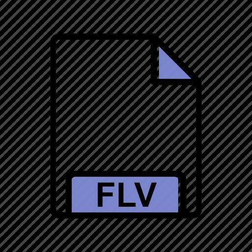 extension, fie type, flv icon