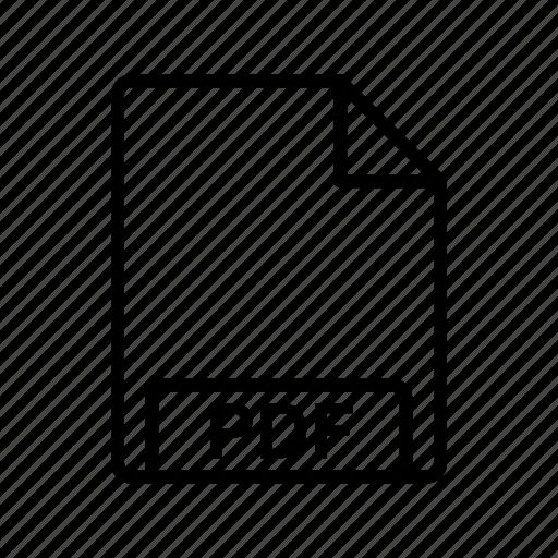 file, file format, pdf icon