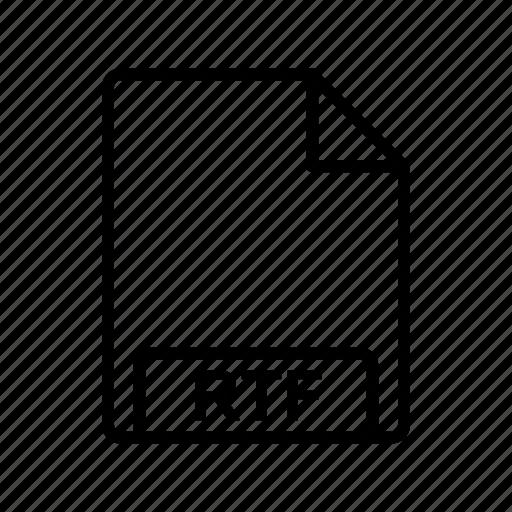 file, file format, rtf icon