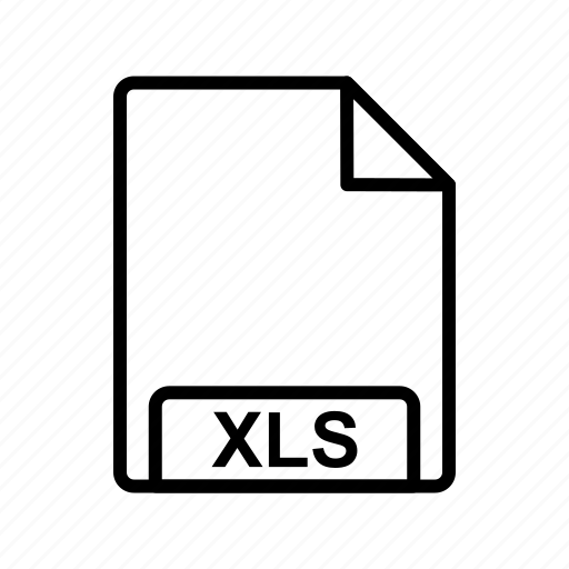 file, file format, xls icon