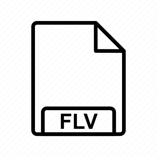 file, file format, flv icon
