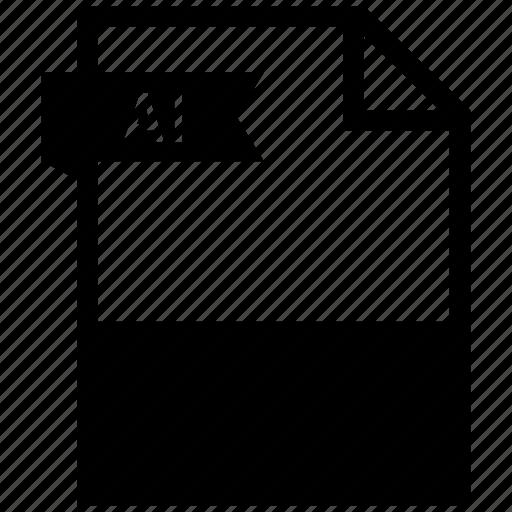 ai, extensiom, file, file format icon