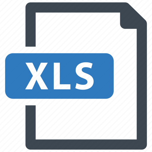Xls, file, format icon