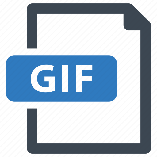 file, format, gif, image icon