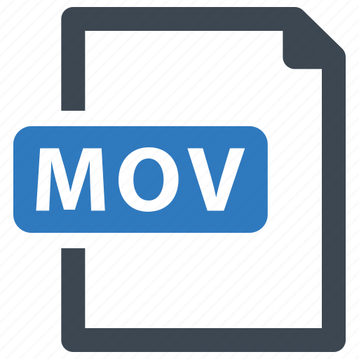 file, format, mov, video icon