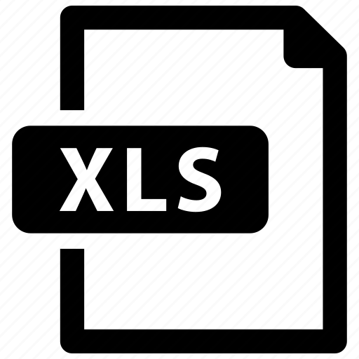 file, format, xls icon