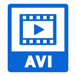 avi, avi file, document, extension, file, format icon