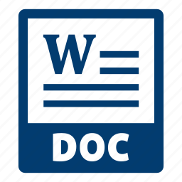 doc, doc file, document, extension, file, format icon