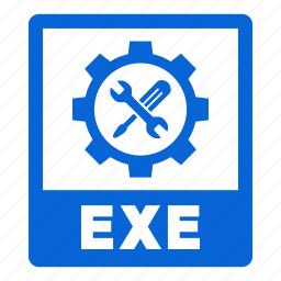 document, exe, exe file, extension, file, format icon