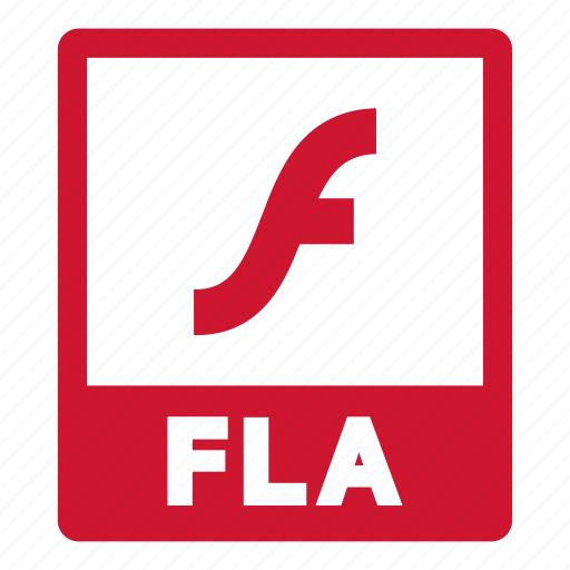 document, extension, file, fla, fla file, format icon