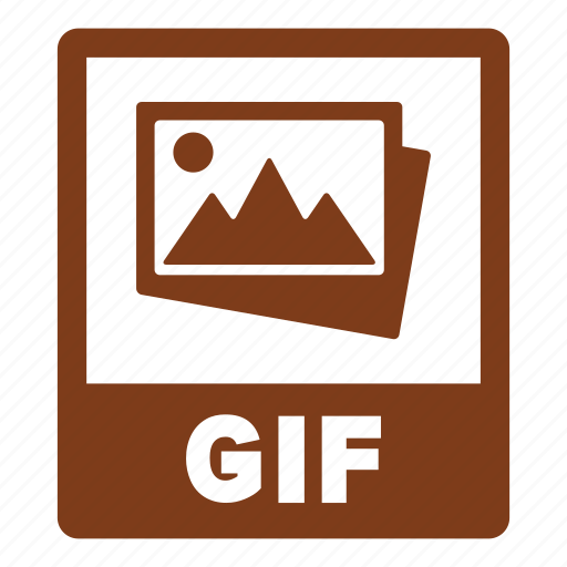 document, extension, file, format, gif, gif file icon