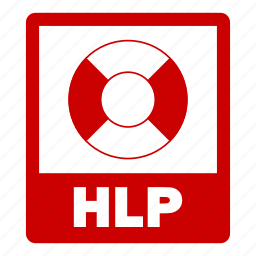 document, extension, file, format, hlp, hlp file icon
