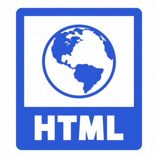 document, extension, file, format, html, html file icon