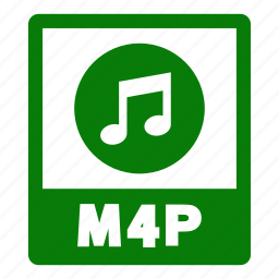 document, extension, file, format, m4p, m4p file icon