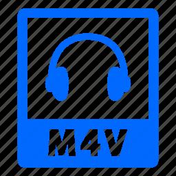 document, extension, file, format, m4v, m4v file icon