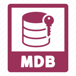 document, extension, file, format, mdb, mdb file icon