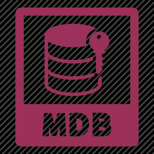 document, extension, file, format, mdb, mdb file icon
