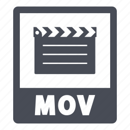 document, extension, file, format, mov, mov file icon