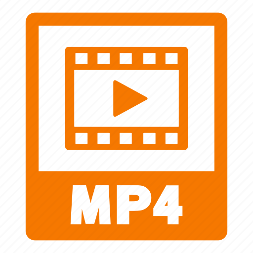 document, extension, file, format, mp4, mp4 file icon