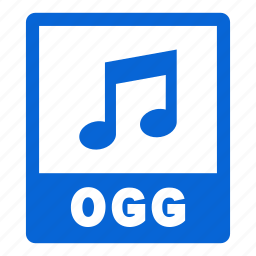 document, extension, file, format, ogg, ogg file icon
