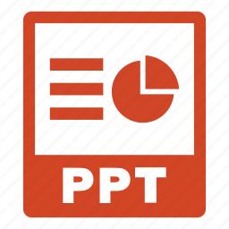 document, extension, file, format, ppt, ppt file icon