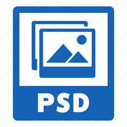 document, extension, file, format, psd, psd file icon