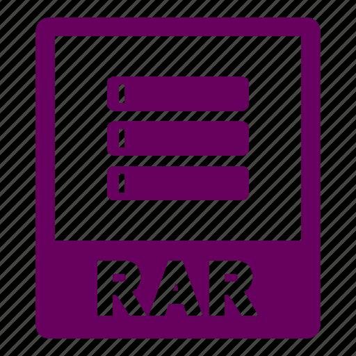 document, extension, file, format, rar, rar file icon