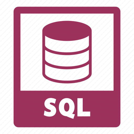 document, extension, file, format, sql, sql file icon