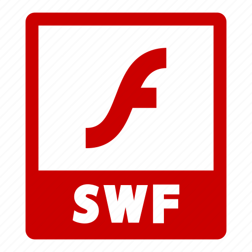 document, extension, file, format, swf, swf file icon