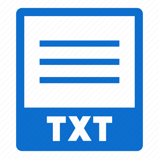 document, extension, file, format, txt, txt file icon
