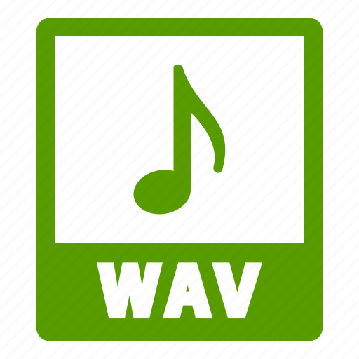 document, extension, file, format, wav, wav file icon
