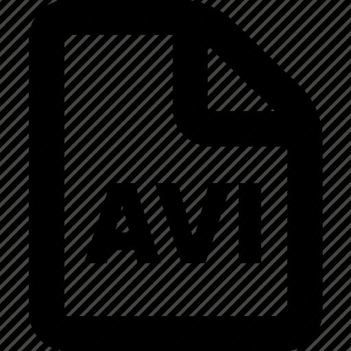 avi, avi file, avi format icon