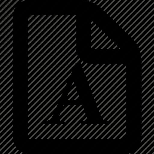 file, font, font file, font format, format icon