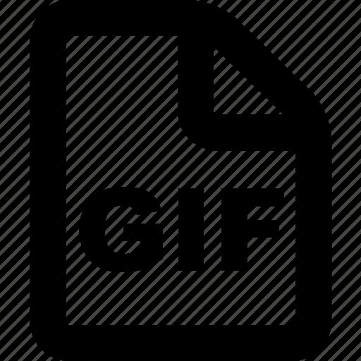 file, format, gif, gif file, gif format icon