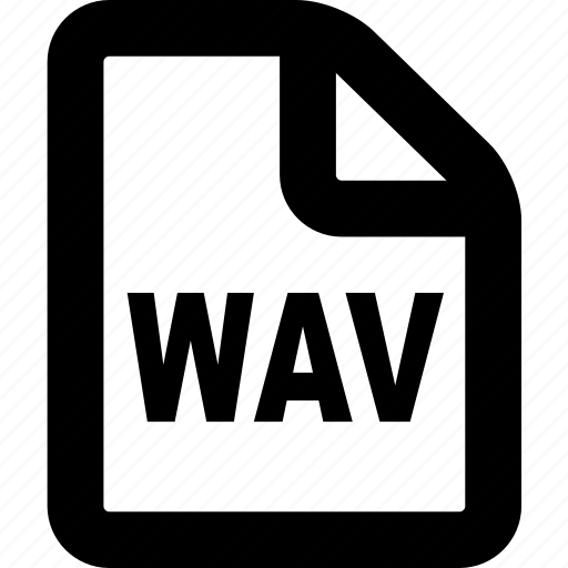 file, format, wav, wav file, wav format icon