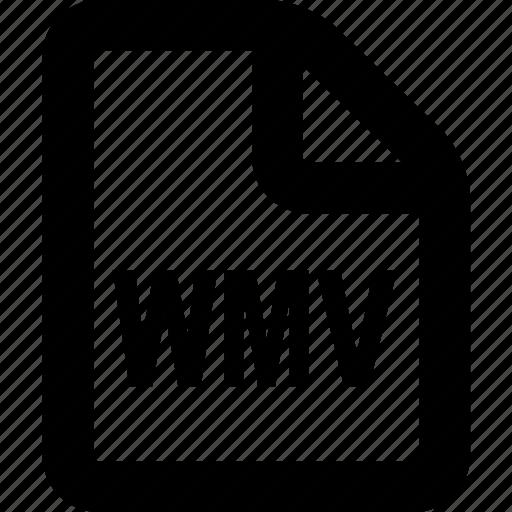 file, format, wmv, wmv file, wmv format icon