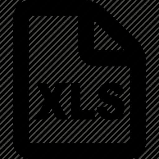 file, format, sheet, xls icon