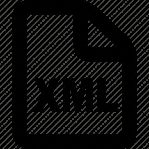 file, format, xml, xml file, xml format icon