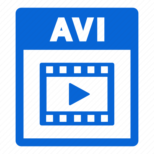 avi, avi file, document, extension, file, format icon