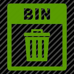 bin, bin file, document, extension, file, format icon