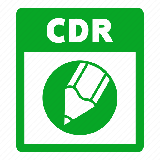 cdr, cdr file, document, extension, file, format icon