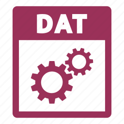 dat, dat file, document, extension, file, format icon