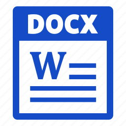 document, docx, docx file, extension, file, format icon