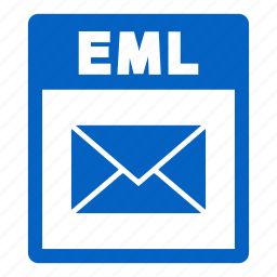 document, eml, eml file, extension, file, format icon