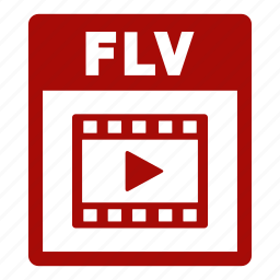 document, extension, file, flv, flv file, format icon