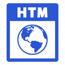 document, extension, file, format, htm, htm file icon