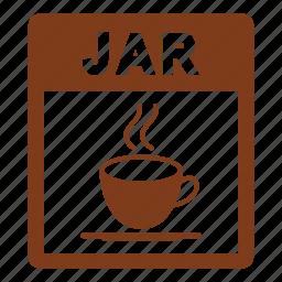 document, extension, file, format, jar, jar file icon